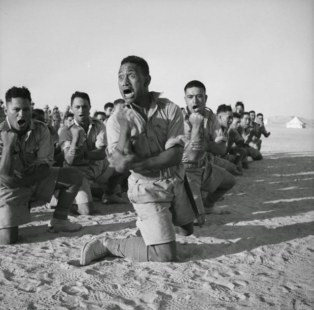 Maori Battalion haka in Egypt, 1941 (1)
