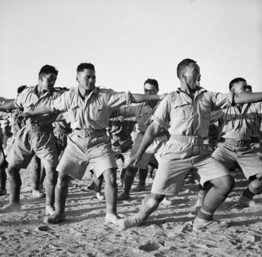 Maori Battalion haka in Egypt, 1941 (2)