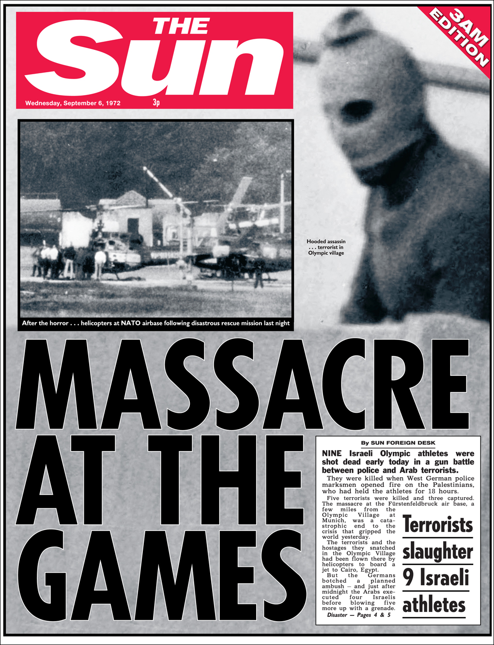 Sun Newspaper headline