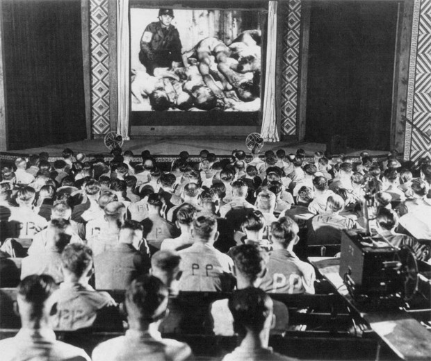 German soldiers react to footage of concentration camps, 1945 2
