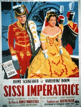 Sissi, The Young Empress Sissi, Die junge Kaiserin Year: 1956 - Austria Romy Schneider, Karlheinz Bohm Director: Ernst Marischka Poster, France. It is forbidden to reproduce the photograph out of context of the promotion of the film. It must be credited to the Film Company and/or the photographer assigned by or authorized by/allowed on the set by the Film Company. Restricted to Editorial Use. Photo12 does not grant publicity rights of the persons represented.