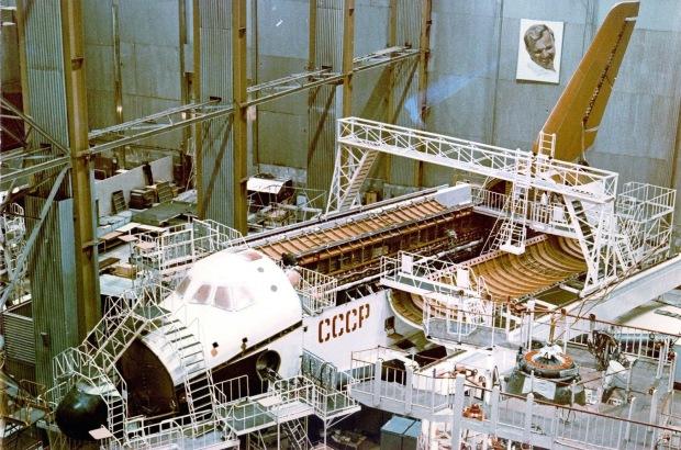 Building of the Soviet Buran spacecraft, 1982