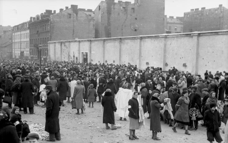 Polen, Ghetto Warschau, Marktszene