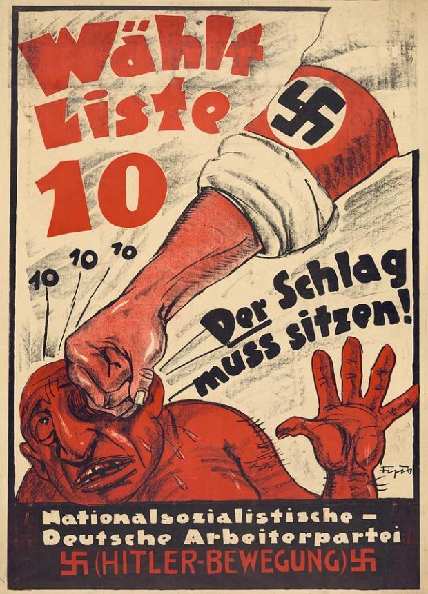 nazi-party-anti-semitic-poster-everett