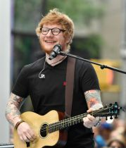 "NEW YORK, NY - JULY 06: Ed Sheeran performs on NBC's ""Today"" at Rockefeller Plaza on July 6, 2017 in New York City. (Photo by Dimitrios Kambouris/Getty Images)"