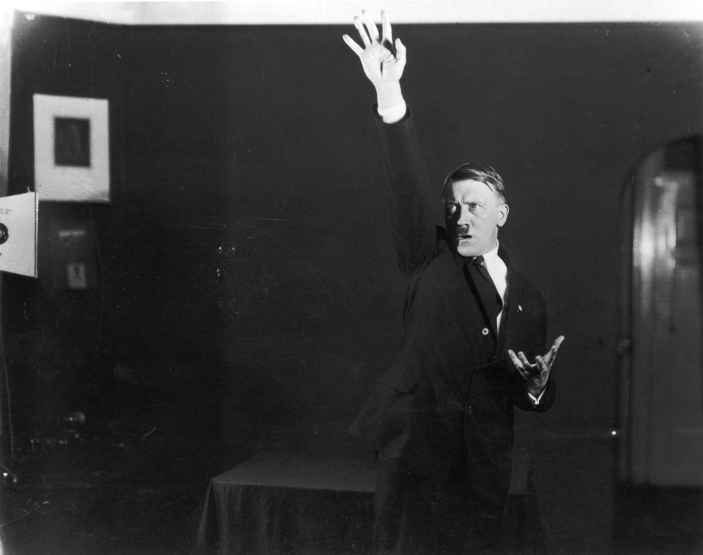 Hitler rehearsing his public speeches in front of the mirror 4