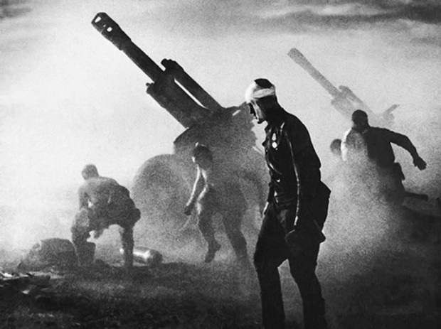 Stand to Death, 152 mm howitzer battery fires during Operation Bagration, 1944