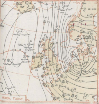 Synoptic_chart_Met_Office_Daily_Weather_Report_North_Sea_Flood_1953