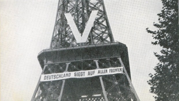 The Eiffel Tower during the Nazi occupation, 1940