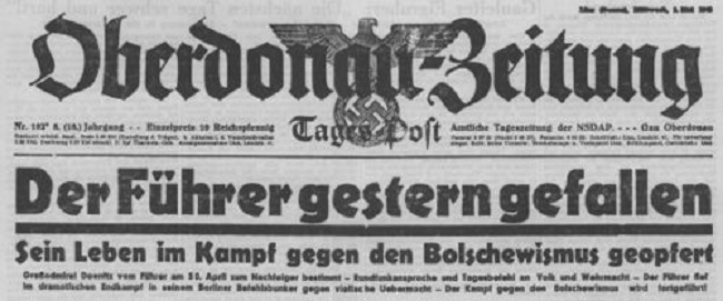 500px-Oberdonau-Zeitung_-_Meldung_vom_Tode_des_Führers