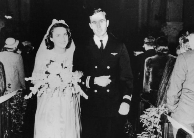 Wedding of George and Barbara Bush