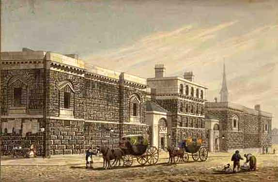 Newgate_West_View_of_Newgate_by_George_Shepherd_1784-1862_edited