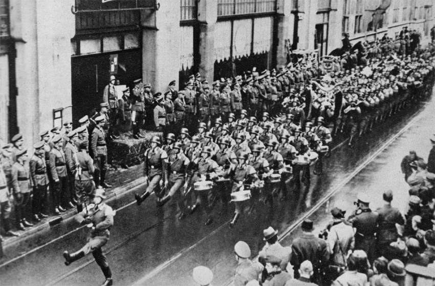 Tzedakah-Nazis-march-into-AMS