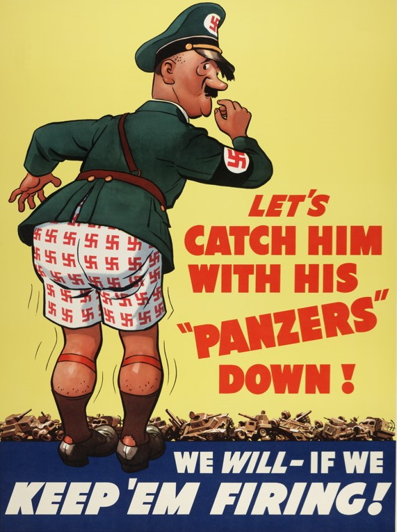 Vintage_WWII_Patriotic_Posters_United_States_America_Hitler_4LG