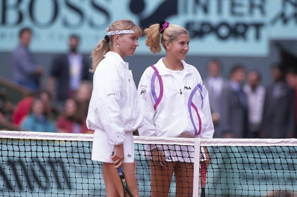 Yugoslavia Monica Seles and Germany Steffi Graf, 1990 French Open