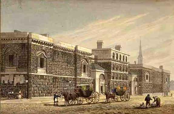 Newgate_West_View_of_Newgate_by_George_Shepherd_1784-1862_edited