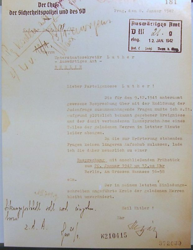 Wannsee_Conference_-_Letter_from_Reinhard_Heydrich_to_Martin_Luther_(Invitation)