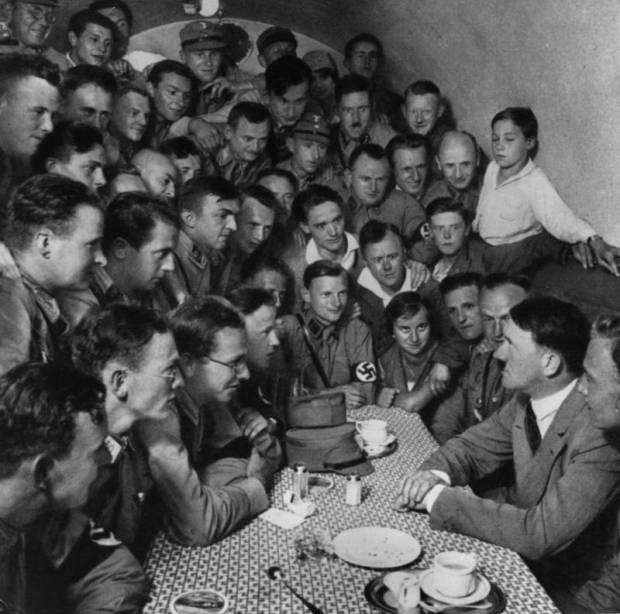 crowding-around-table